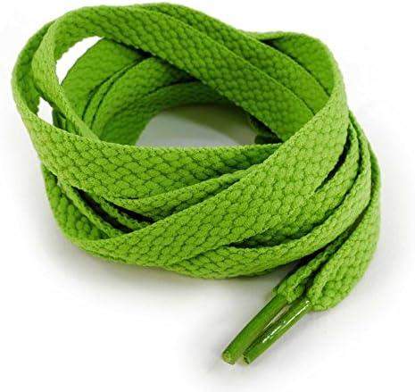靴ひも(靴紐) シューレース 無地平紐 黄緑モスグリーン ETSR-706【125cm,くつひも】