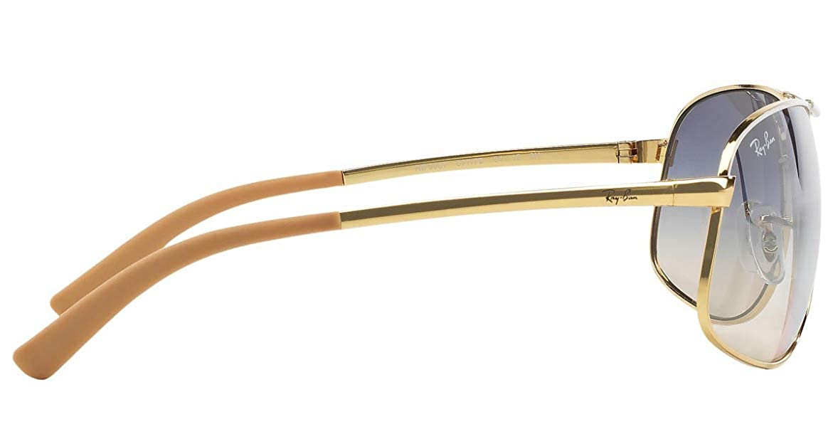 ba30c7f7a9 Amazon.com  Ray-Ban RB3387 - 077 7B Sunglasses Gold White w  Blue Silver  Gradient Lens 64mm  Shoes