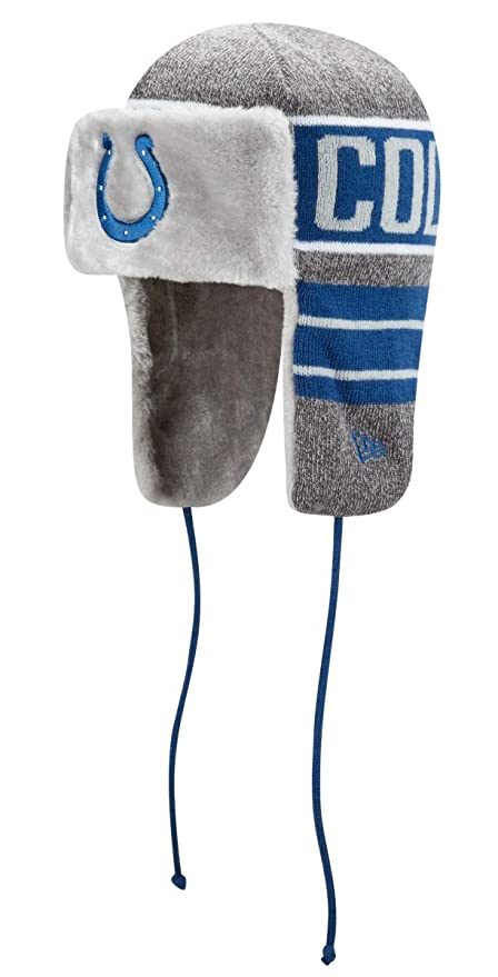 523368f1bc07b Image Unavailable. Image not available for. Color  New Era Indianapolis  Colts NFL Frosty Trapper Fur Lined Knit Hat