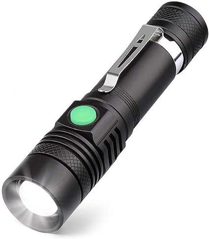 USB DEL rechargeable torche mini lampe de poche police Zoom Camping petite lampe lumière