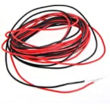 SODIAL (R)2x 3M 22 Gauge AWG Silicone Rubber Wire Cable Red Black Flexible [Misc.]