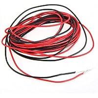 SODIAL (R) 2 Cables electricos 3m silicona flexible