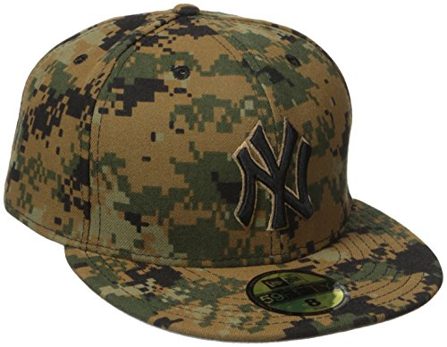 MLB New York Yankees Men's 2016 Memorial Day 59FIFTY Fitted Cap, Size 7 3/4, Military Camouflage