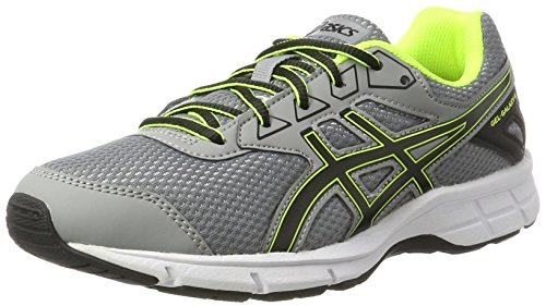 Asics Unisex-Kinder Gel-Galaxy 9 Gs Gymnastikschuhe Silber (Aluminum / Black / Safety Yellow)