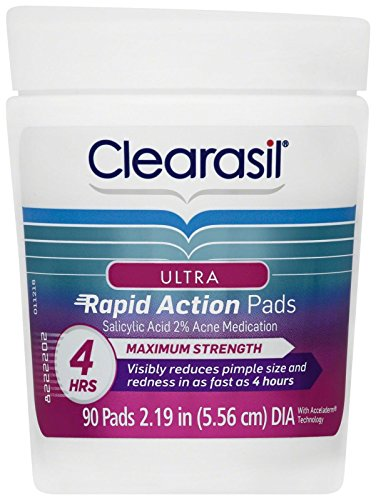 (Clearasil Ultra Rapid Action Pads - 0.46 oz - 90 ct)