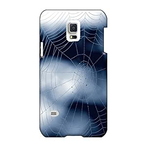 JohnPrimeauMaurice Samsung Galaxy S5 Mini Perfect Hard Cell-phone Cases Support Personal Customs Stylish Blue Web Pictures [AJT1731cPsa]