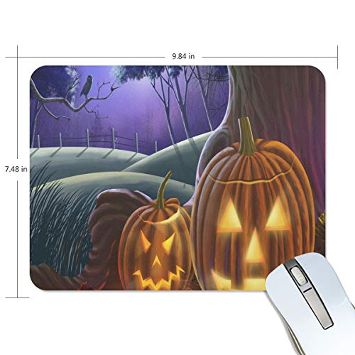 Mouse Pad Happy Halloween Wallpaper Gaming Mousepad Custom Small Thick Mouse Mat Black Hot Mouse -