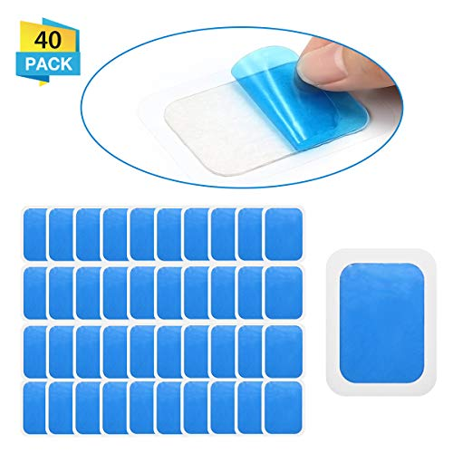 - OUTERDO 20 Sets of 40 Pads Abs Trainer Replacement Gel Sheet, Replacement Gel Pads for Abdominal Muscle Trainer, EMS AB Trainer, Accessory for Ab Workout Toning Belt
