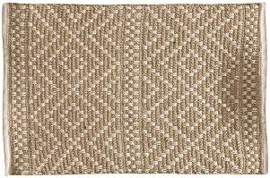 The Home Deco Factory HD5004 - Alfombra (algodón, 80 x 50 x 0,5 cm), color beige: Amazon.es: Hogar