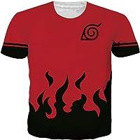 SunFocus Mens T-Shirt Cool Son Goku Shirts 3D Anime Short Sleeve Tee Tops for Summer Beach M-XXL