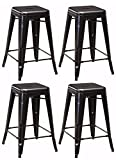 Ashley Furniture Signature Design - Pinnadel Barstool - Counter Height - Vintage Casual - Set of 4 - Gray