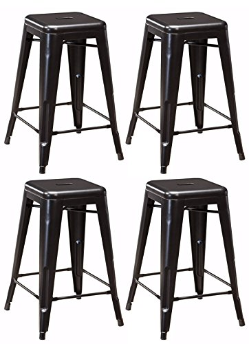 Ashley Furniture Signature Design - Pinnadel Stool - Set of 4 - Casual Style - Gray ()