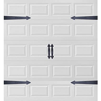 Garage Door Decorative Hardware Magnetic Faux Hinges Handles Carriage Style Accents Trim Hardware All Season Weather Resistant Non Fade Easy