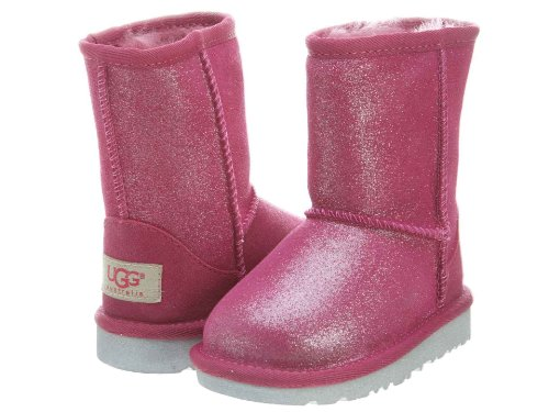 UGG Unisex 1002496T Classic Glitter Boots Toddlers Style, Fuchsia, 7 ()
