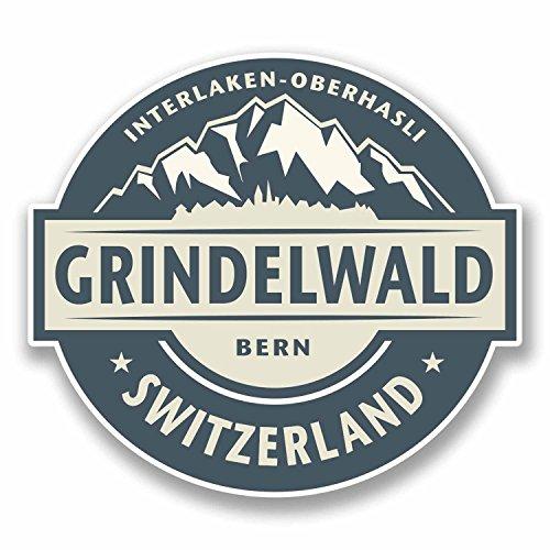 2 x Grindelwald Switzerland Vinyl (Instructor Decal)