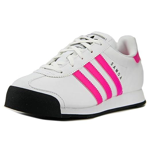 Amazon.com | Adidas Samoa C Youth US 3 White Sneakers | Walking