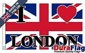 duraflag® i love Londres bandera de calidad profesional (puerta y Cambiadas), 1 Yard (91cm x 45cm)