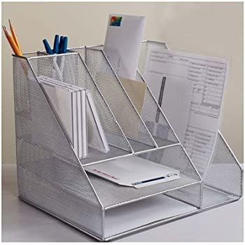 Amazon Com Design Ideas Desk Organizer Mesh Silver