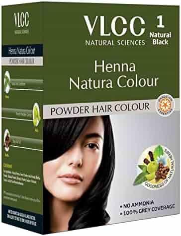 de5bb8a94ef4a VLCC Henna Natura Colour - Natural Black - Powder Hair Colour -No Ammonia -  100