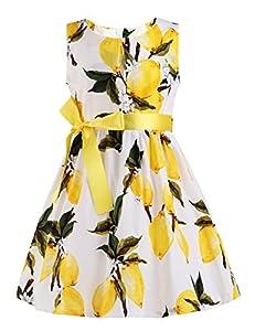 PrinceSasa Kid Floral Cotton Girls Dresses Summer Girl Clothes