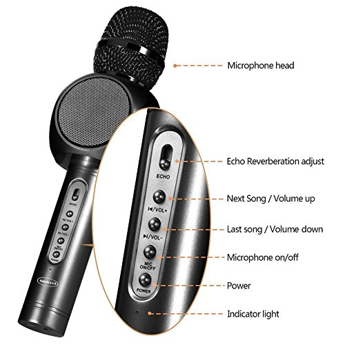 iphone karaoke microphone wireless microphone karaoke amicool portable karaoke 11970