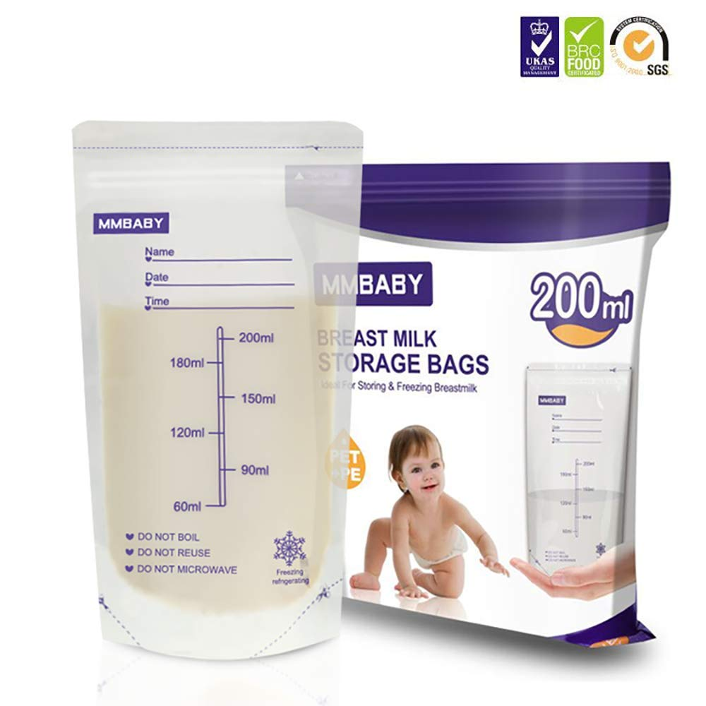 MMBABY Breastmilk Storage Bags, 20 Count Convenient Milk Storage Bags for Breastfeeding (20 Count)
