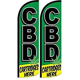 CBD Cartridges Here King Swooper Windless Flag- Pack of 2 (Hardware not Included)