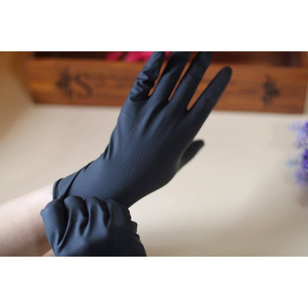 Schwarz Lurrose 10 St/ücke Friseursalon Wiederverwendbare Handschuhe Labor Latex Handschuhe Haarfarbe Farbstoff Handschuhe Mittlerer Gr/ö/ße