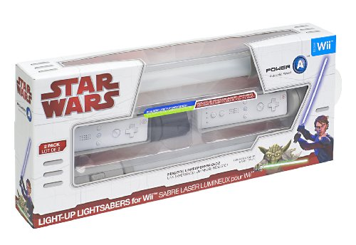 Official Star Wars Wii Anakin & Yoda Light-Up Replica Lightsabers - Dueling Pack