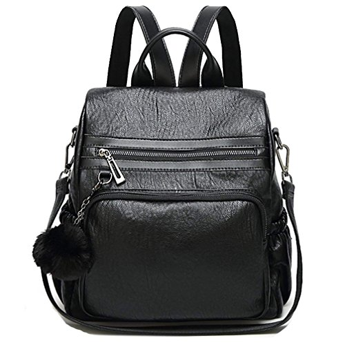 dame bandoulière à à cuir sac PU femme bandoulière Marron sac dos dos Noir à Fanshu sac à main sac YxqBaa
