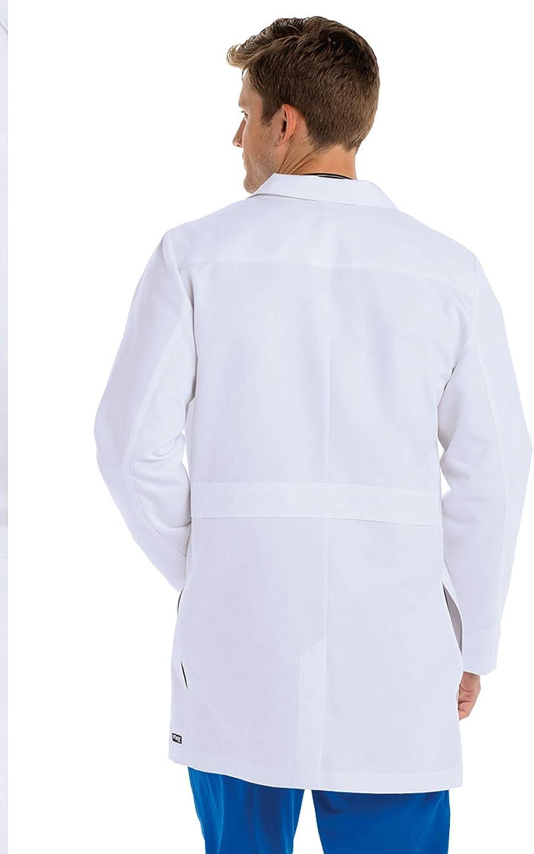Professional Full Length Barco Greys Anatomy Lab Coat for Men Long Sleeve