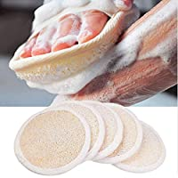 Loofah Pads (Pack of 5) - Exfoliating Scrubbing Sponges - Natural Luffa Material - Essential Skin Care Product - For…