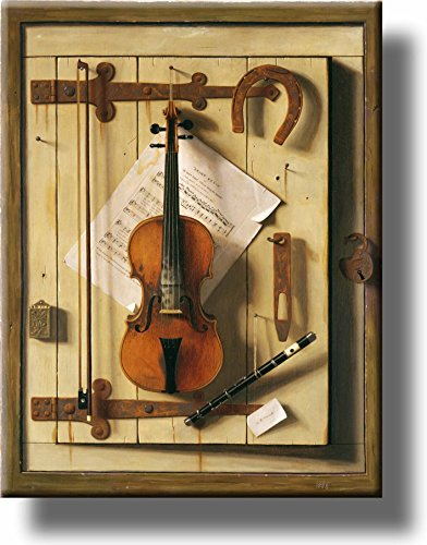 (Still Life Violin Picture on Stretched Canvas, Wall Art Décor, Ready to Hang!)