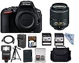 Nikon D5500 Digital SLR Camera with 18-55mm + 32GB memory card + Linen Zone cloth Accessory Bundle