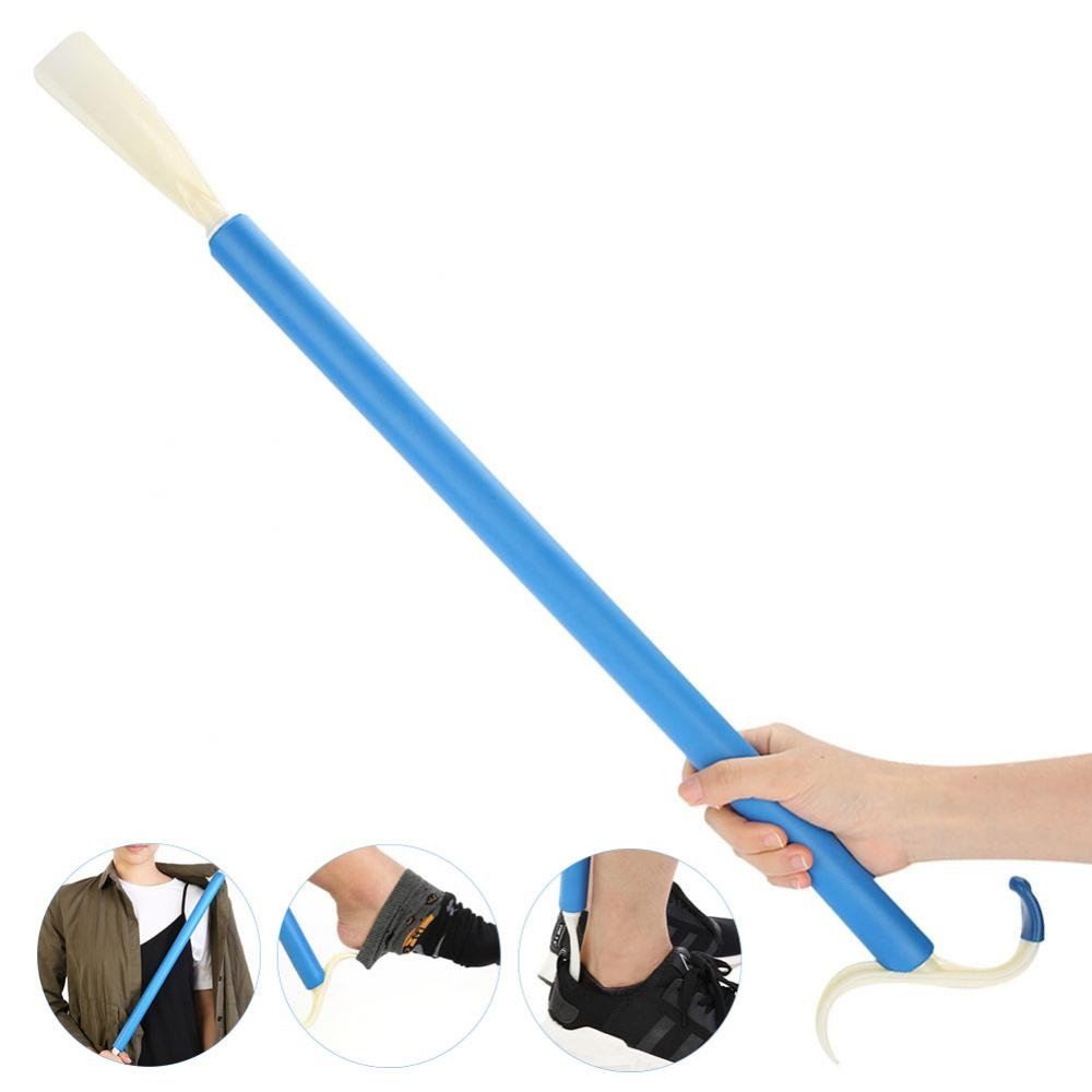 Dressing Aid Stick, Multifunctional Mobility Disability Dressing Aid Easy Put On Off Long Handle Stick Shoe Horn