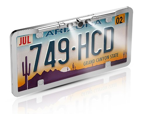 BOYO VTL275HDL Multi-View License Plate Camera (Chrome) - View Boyo Rear Cameras