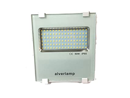Alverlamp LSPRO5041W - Foco proyector LED, 50W, 4000K, compacto blanco, chip led