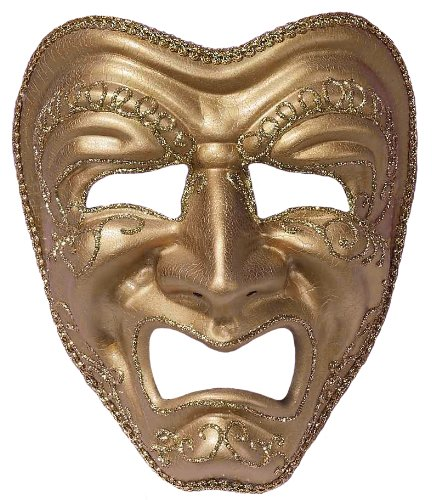 Forum Tragedy Mask, Gold, One Size]()