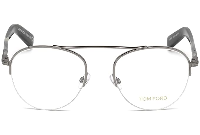8728aefe153 Amazon.com  Tom Ford Rx Eyeglasses With Case - FT5451 012 - Grey (48-19-140)   Clothing