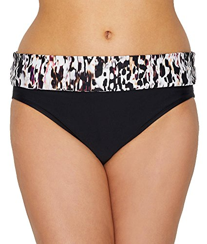 Animal Womens Swimsuit Bottom - Panache Florentine Fold-Over Bikini Bottom, XL, Animal Print