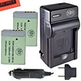 BM Premium 2-Pack of NB-13L Batteries and Battery Charger for Canon PowerShot G5 X, G7 X, G7 X Mark II, G9 X, SX720 HS Digital Camera