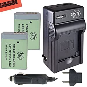 BM Premium 2-Pack of NB-13L Batteries and Battery Charger for Canon PowerShot G5 X, G7 X, G7 X Mark II, G9 X, G9 X Mark II, SX620 HS, SX720 HS Digital Camera
