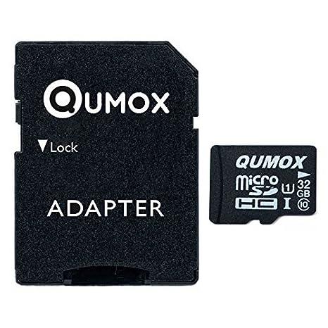 QUMOX 2 x 16GB Tarjeta Micro SD de Memoria de Clase 10 UHS-I, Velocidad de Escribir 12 MB/s, Velocidad de Lectura hasta 70 MB/s