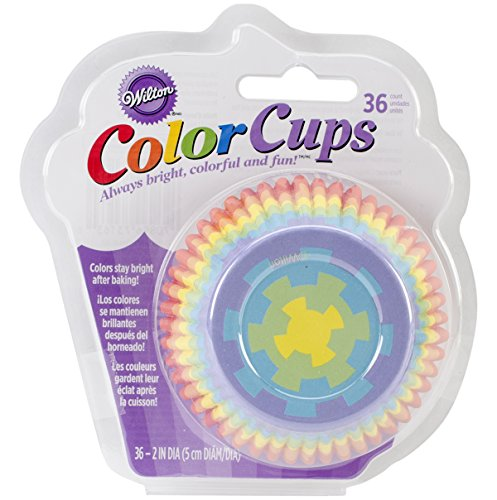 Wilton Standard Baking Cups, 36-Count, Rainbow Color (Candy Wrappers Halloween Costume)