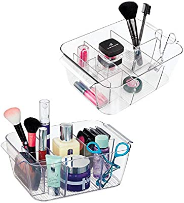 mDesign Caja con Compartimentos para organizar Maquillaje – Caja ...