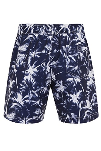 Bruno Galli Herren Badeshort blau Navy & White Strip