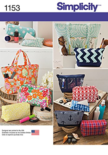 Bag Purse Sewing Pattern - Simplicity Patterns US1153OS Accessory Bags, OS (ONE Size)