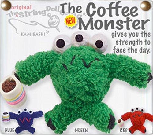 - Kamibashi Coffee Monster with Mug The Original String Doll Gang Keychain Clip