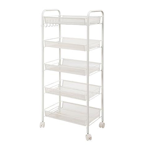 Amazon Com Mesh Storage Rolling Cart Shelving Rack Shelf Rolling