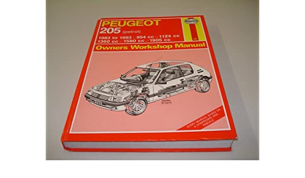 Peugeot 205 Owners Workshop Manual (Haynes Owners Workshop Manual Series): A K Legg: 9781850109150: Amazon.com: Books